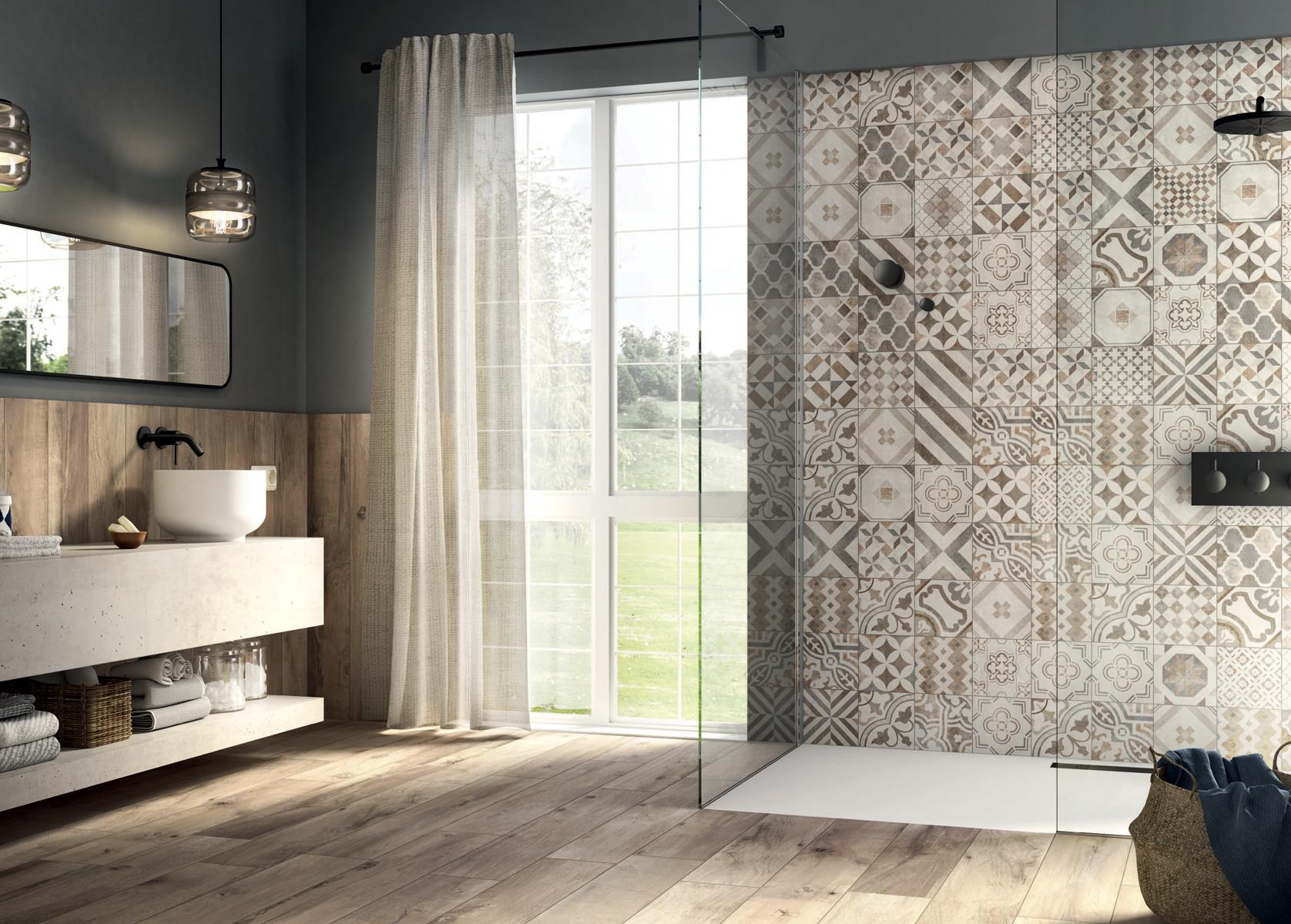 Inspiration salle de bain - carrelage